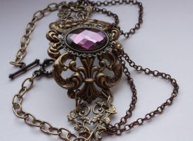 Steampunk Violett Goth Chocker by Pinkabsinthe