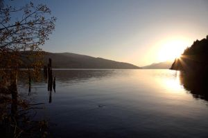 Sunset at Loch Tay by DavidKanePhotography
