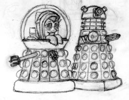 Doodle: Fluttershy: Emperess of the Daleks by MrSevens