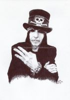 Mick Mars - Motley Crue - Pen and Ink Portrait by NateMichaels