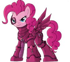 Pinkie Party Armor no-backdrop by decompressor