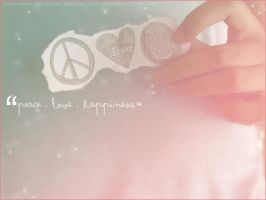 PEACE LOVE HAPPINESS by chachaajose