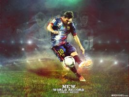 world record l messi2012 by M-A-G-F-X-Graphic