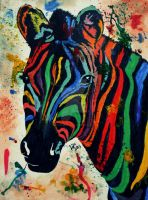Colorful Zebra by TheGingerBandit