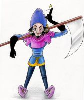 Clopin with scythe by Mistress-D