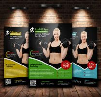 A4 Body Fitness Flyer by Designhub719