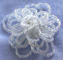 white beaded brooch 2 by Craftcove