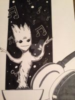 Dancing Groot by SenjiMakoto