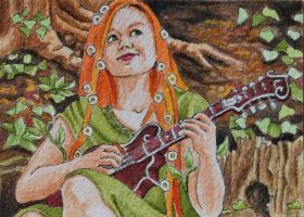 Celtic May Queen ATC by waughtercolors