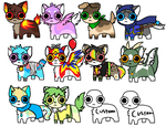 Dog and Wolf Adoptables by Pawesome-Adopts