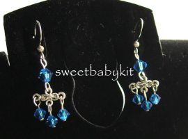 Sapphire Indie Earring by sweetbabykit