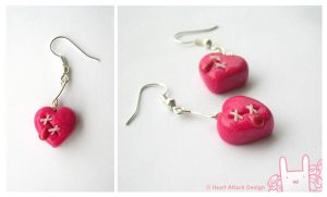 Broken Heart earrings by Heart-Attack-Design
