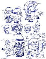 Despicable me minions doodle by reika1016