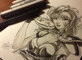COPIC sketch 28 MARIN reloaded by FranciscoETCHART