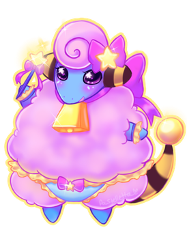 Magical Shiny Mareep by PastellettaArt