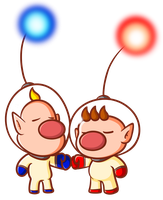 Captain Olimar and Louie by JamesmanTheRegenold