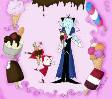 Mina and the Count: ice cream, oh my God by VampiraLady