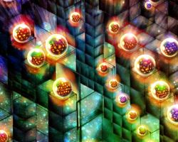 Shimmering Spheres by rabbitica