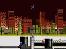 Sonic in Chemical Plant Zone by ShadowTheHedgie1997