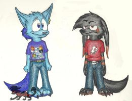 Zeke and Tyger Clothes Colored by Sophie-The-Skunk