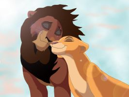 Kovu and Kiara by RedTabby