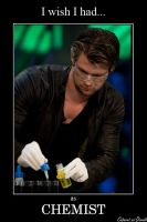Chris Hemsworth as Chemist by CABARETdelDIAVOLO