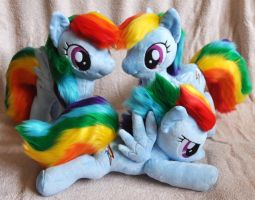 New Rainbow Dashs (5, 6, 7) by Sethaa