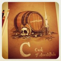 C is for Cask of Amontillado by Disezno