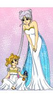 Moon - Queen and Princess by Sailor-Serenity