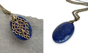 Isobel's Lapis Necklace by Gweyeni