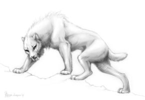 Smilodon by OmegaLioness