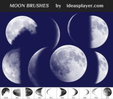 Free Moon Brushes by Ideasplayer