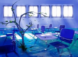Abandoned Classroom by blu-ion