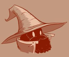 Bearded: Black Mage by Vanjamrgan