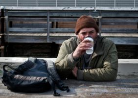 A Man and His Coffee by Fortelegy