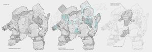 Mecha Concept / Litany Mk. I by BrotherBaston