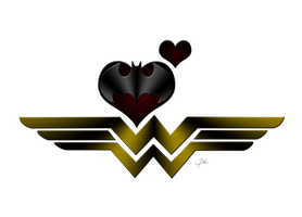 WonderWoman Loves Batman by KellCandido