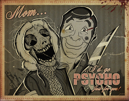Psycho Mother's Day Card by MichaelJLarson