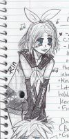 School 'notes' (Rin and Len Kagamine!) by TheKagamineFanatic