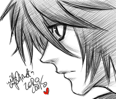 death note my love L by zerocools