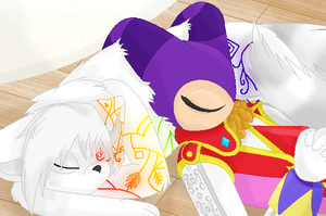Doodle for Darky--Naptime by sonictheonlyhedgehog