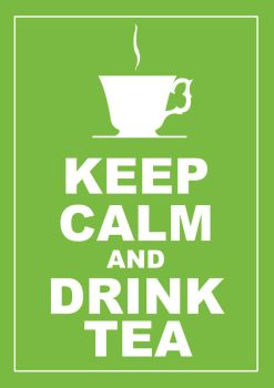 KEEP CALM and DRINK TEA by christohpera