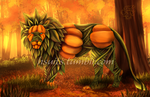 The Lion Pumpking by HaileyRidenow