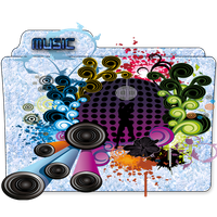 Music Folder Icon 6 by gterritory
