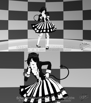 [MMD BATIM] - TDA (Fem) Bendy model showcase by SonicandShadowfan15