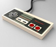 NES Controller 3D by AnthonyDevine