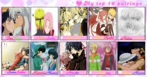 Meme: My top 10 couples by Minni-Alice