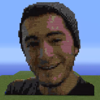 Captain Sparklez. (Made from Minecraft Blocks) by tmsdk