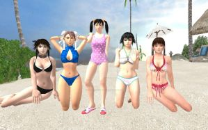 Five Celestial Queens: Swimsuit Edition by Stylistic86