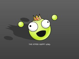 The Hyper Happy King Wallpaper by Solitude12